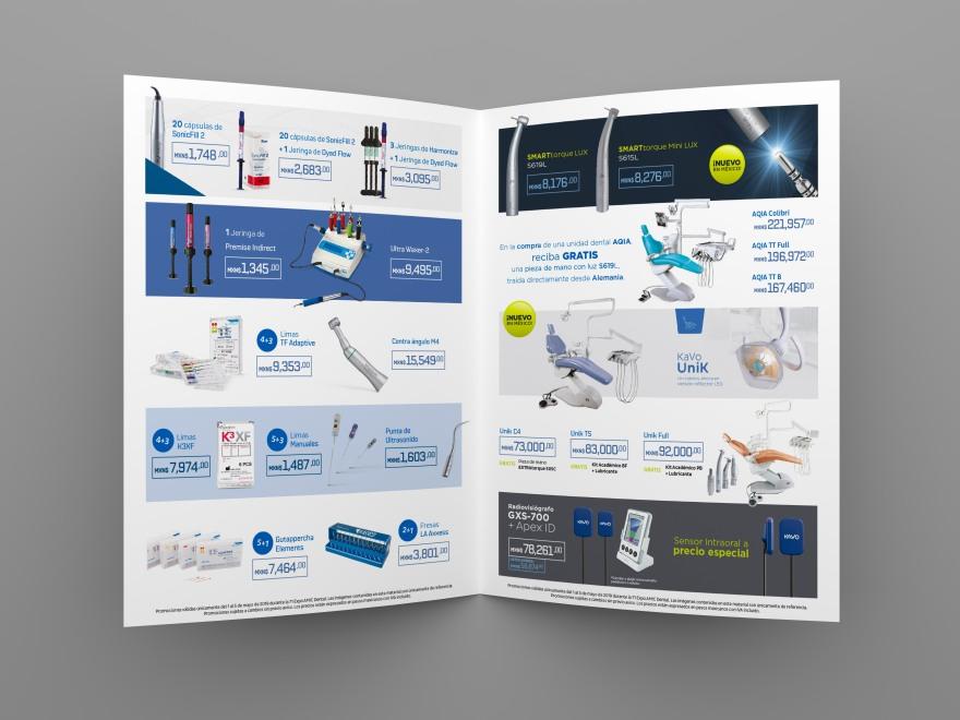 Blank folded flyer, booklet or brochure mockup